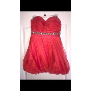 Pink and Orange Homecoming Dress Size 8
